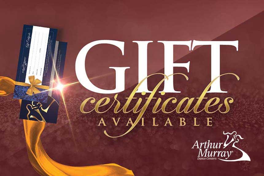 Arthur Murray Baltimore Gift Certificates